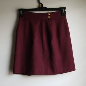 Burgundy JH Collectibles Pure Wool Skirt 8